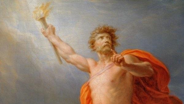 the story of prometheus and pandoras box theme