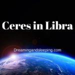 Ceres in Libra