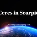 Ceres in Scorpio