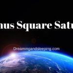 Venus Square Saturn Synastry